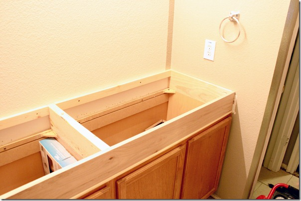 How to Add height to a short bathroom vanity (22)