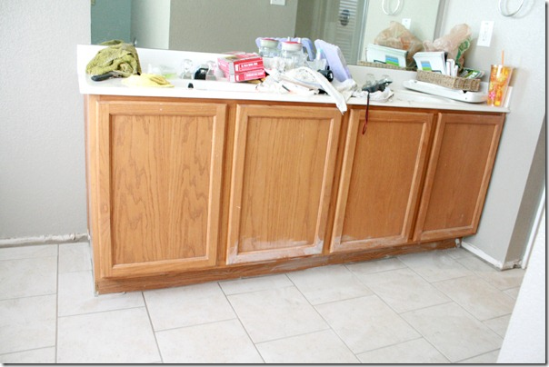 How to Add height to a short bathroom vanity (2)