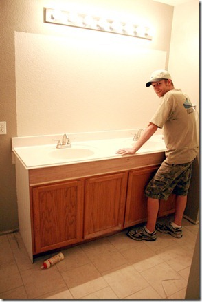 How to Add height to a short bathroom vanity (32)