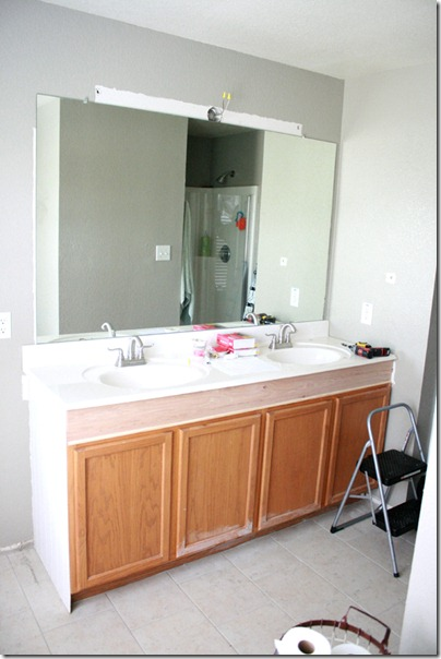 How to Add height to a short bathroom vanity (43)
