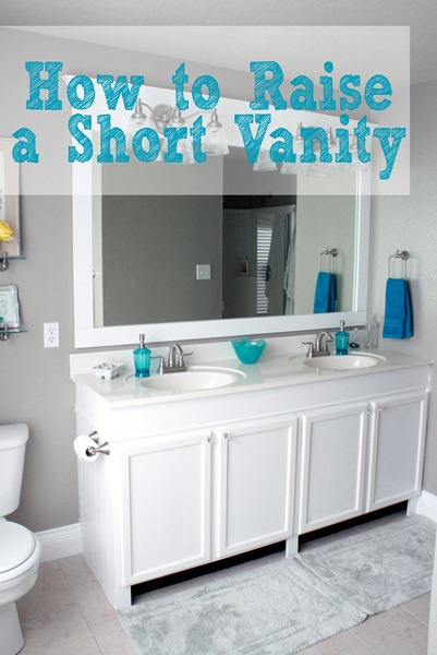 how to raise up a short vanity