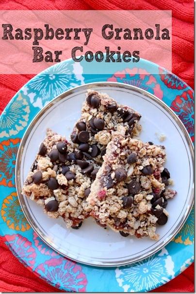 Raspberry Granola Bar Cookies Recipe2