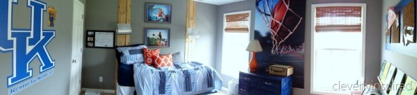 gray and orange boys room panorama colorful cool makeover for teen boys, cleverly inspired @remodelaholic