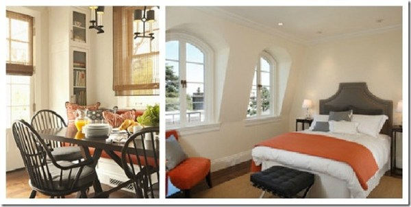 gray and orange rooms color pop, @remodelaholic