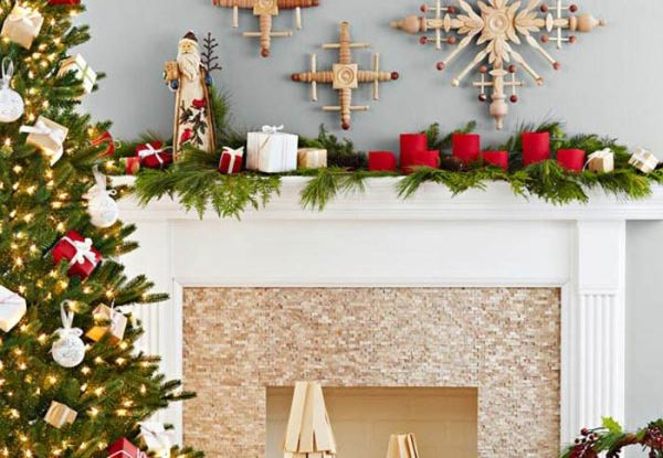 Holiday (or Christmas) mantel ideas, traditional diy by Lowe's Creative Ideas