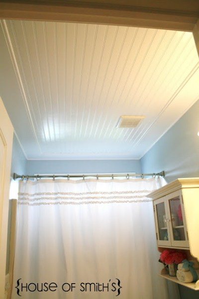 House of Smiths beadboard ceiling