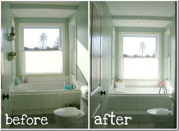Imperfect homemaking bathroom collage