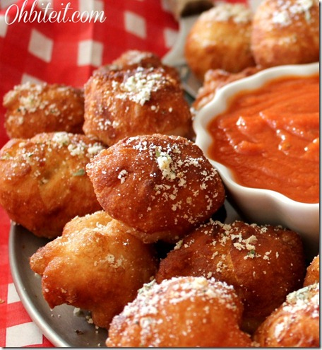 Oh Bite It Fried Pizza Poppers