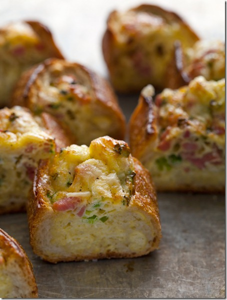 Spoon Fork Bacon Baked Egg Boats