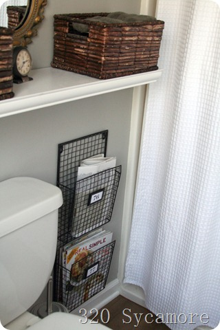 320 Sycamore bathroom magazine racks