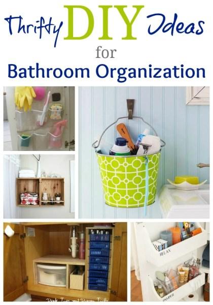 Bathroom Organization Pin Pic