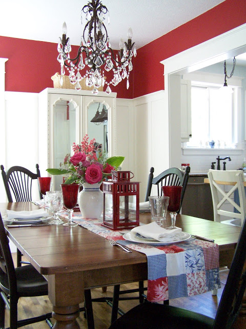Delorme Designs red country dining