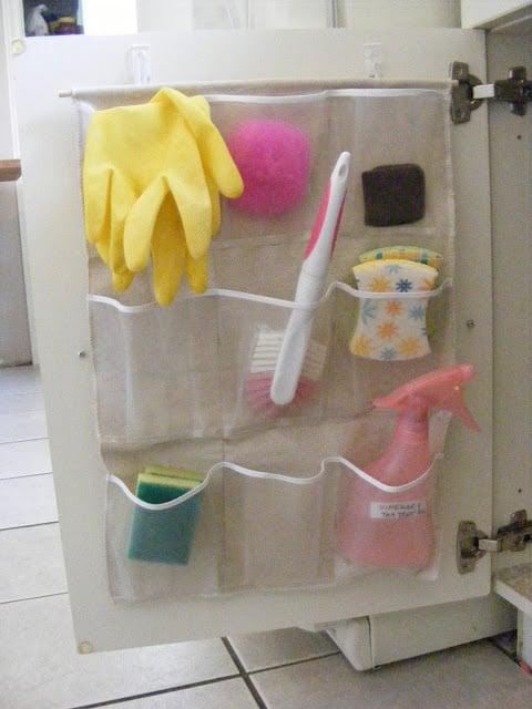 Imperfect Homemaking cupboard door organizer
