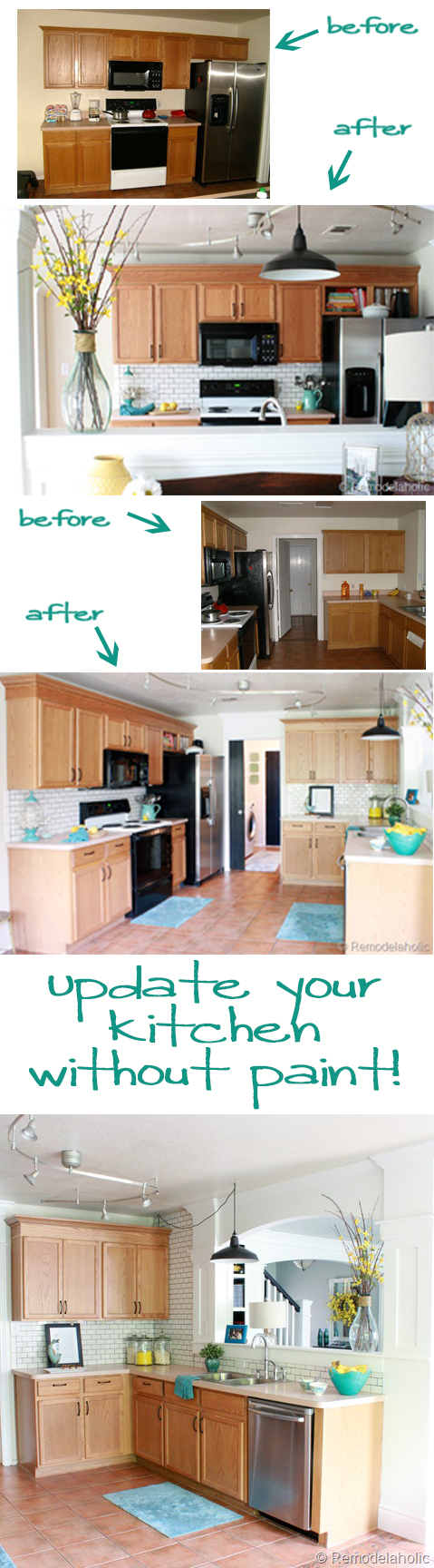 How To Update Kitchen Cabinets Without Painting