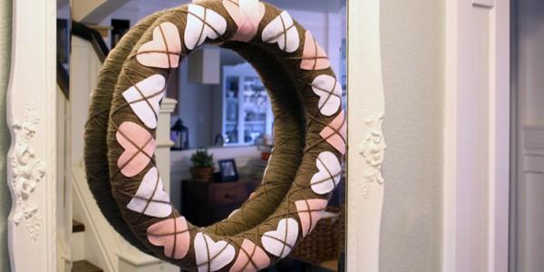 Remodelaholic argyle wreath