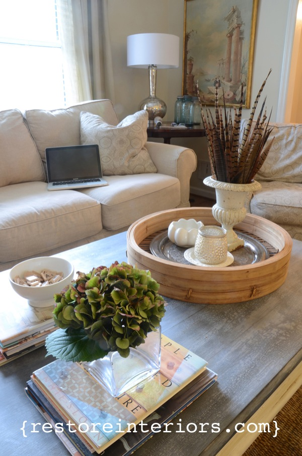 Restore Interiors zince coffee table top