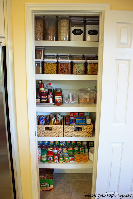 Sunnyside Up pantry baskets