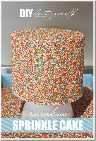 The cake blog rainbow sprinkle cake