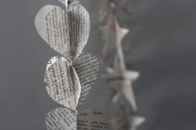 Think Crafts recycled paper garland
