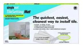 Tile setting mat for installing backsplash