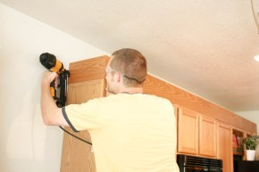 Upgrade Oak Kitchen Cabinets With Crown Moldings-8