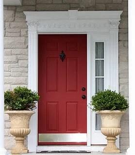 Yellow Cape Cod red door