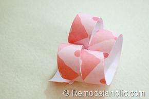 Pink Paper Curl how to