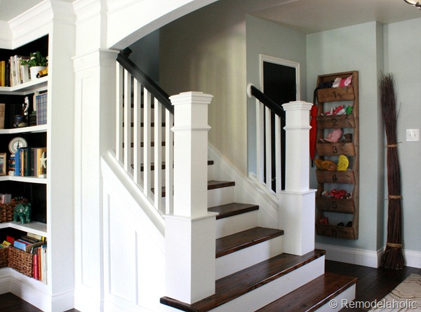 Beautiful Interior Staircase Ideas And Newel Post Designs: Beautiful Budget Stair Remodel; From Carpet To Wood Treads