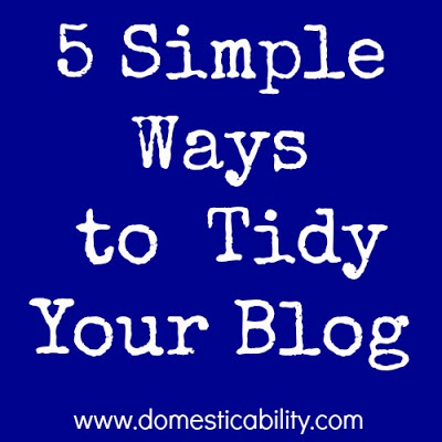 Domesticability blog cleaning