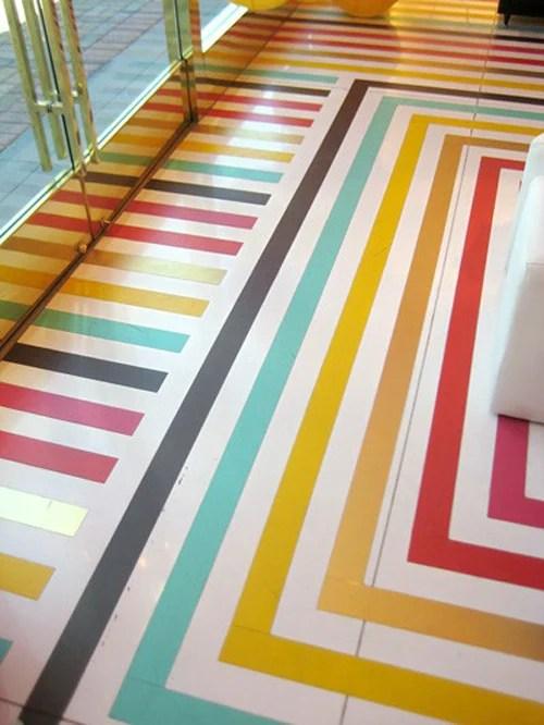 Kate Spade rainbow floor