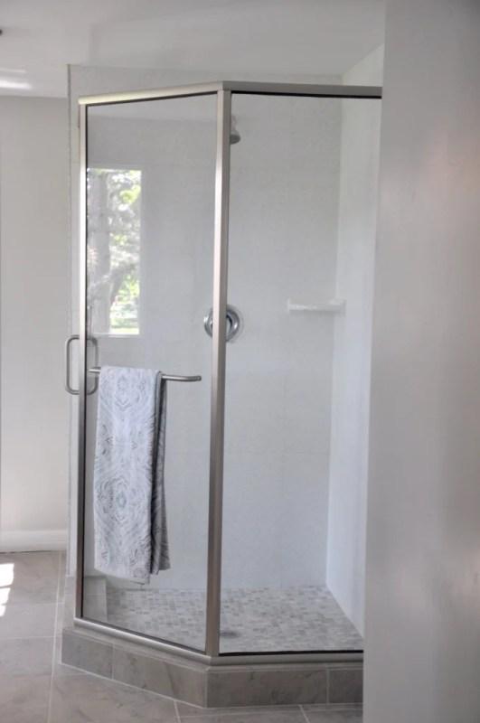 Lindsay & Drew master bath shower