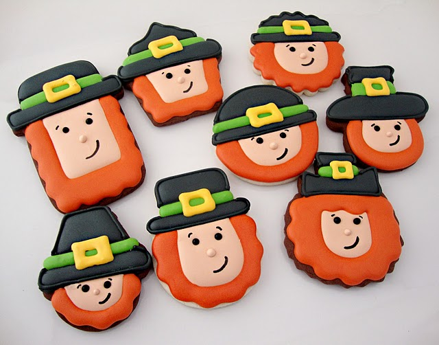 Lots and Lots of Leprechaun cookies for St. Patrick's Day by Sweet Sugarbelle