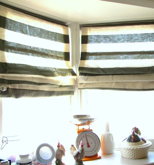 No sew roman shades Scoutie Girl