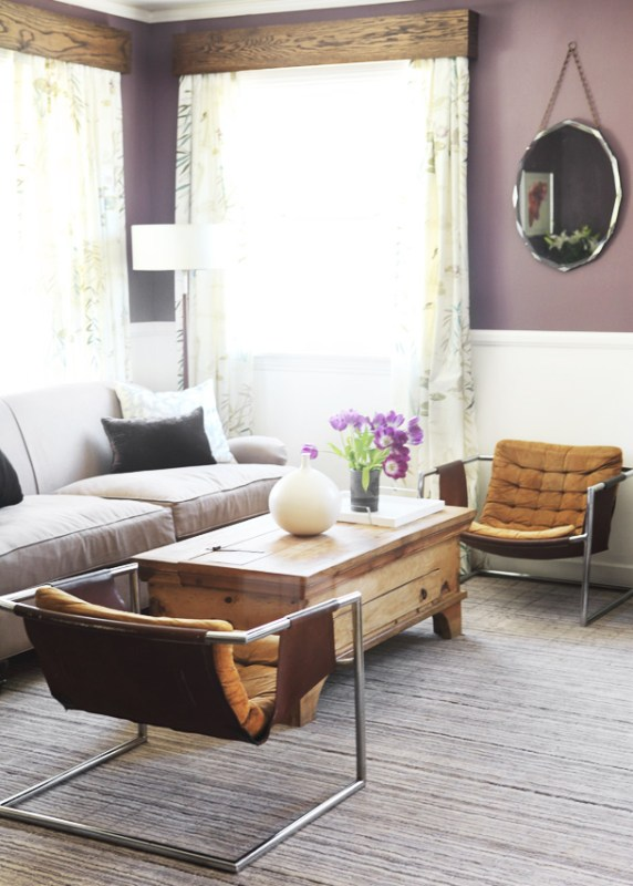 Style by Emily Henderson purple living room