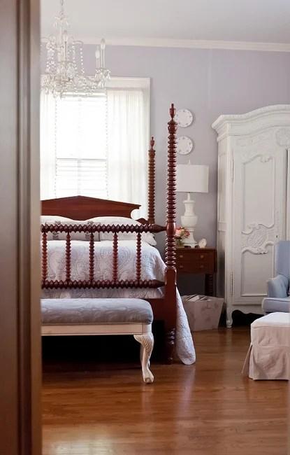 The Decorologist lavendar bedroom