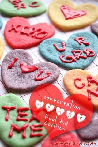 Valentine Converstaion Heart Cookies Koolaid Cookies Recipe (7a)