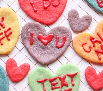 Valentine Converstaion Heart Cookies Koolaid Cookies Recipe