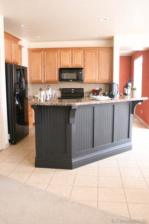two tier kitchen island drop in stainless steel sink remodelaholic   makeover with corbels: part