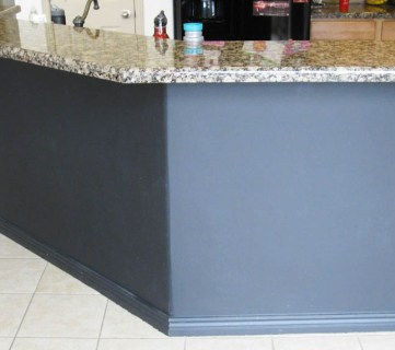 black board and batten kitchen island makeover