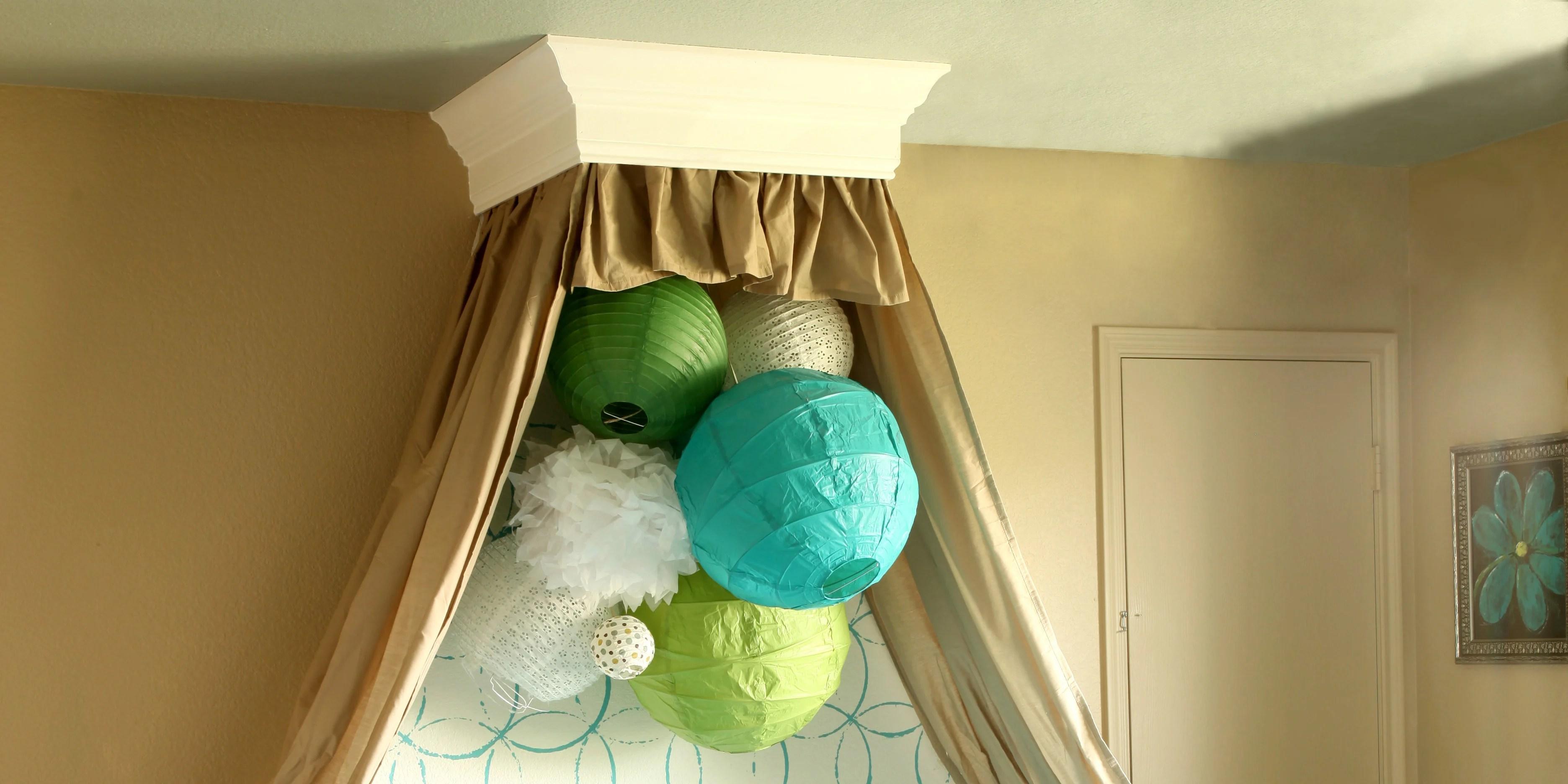 Remodelaholic Simple Bed Crown Cornice Tutorial