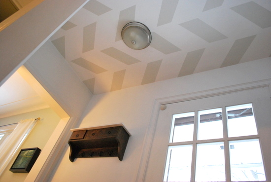 Herringbone Entry Ceiling