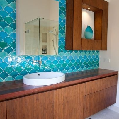 Houzz fish scale tile