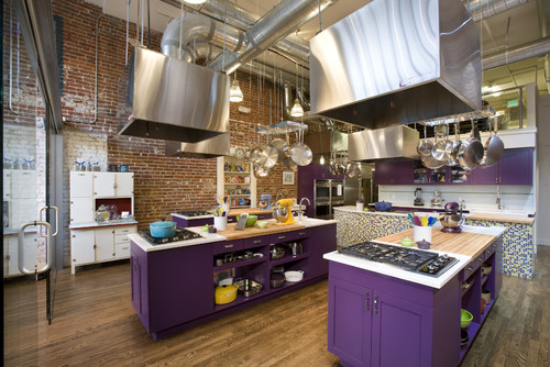Houzz purple cabinetry