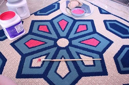 Living Room Flooring & Painting etta's Rug 021