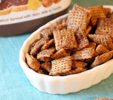 Caramel Nutella Chex Mix Muddy Buddies Recipe