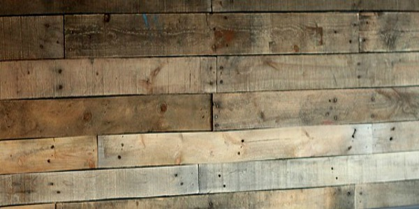 Remodelaholic  DIY Pallet Wood Wall for a Bathroom