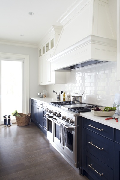 navy blue painted kitchen cabinets Beautifully Colorful Painted Kitchen Cabinets