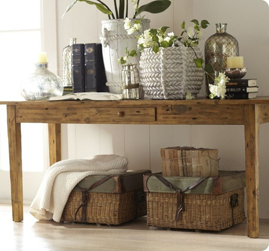 remodelaholic 25 ways to decorate a console table rh remodelaholic com how to decorate a sofa table for christmas how to decorate a sofa table farmhouse style