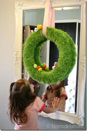 quick easter wreath