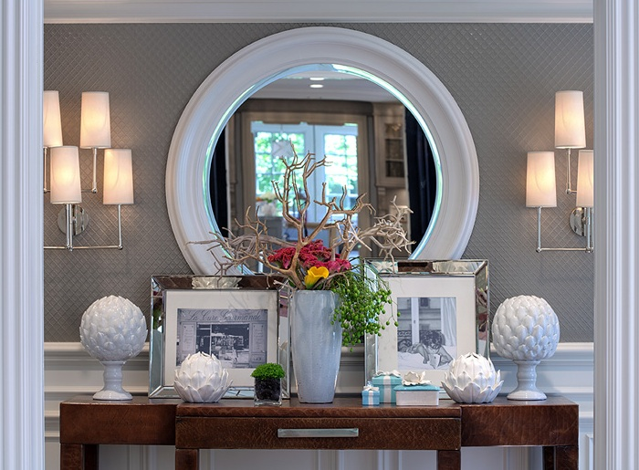 Elegant Symmetrical Console Table Display